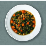 Curried Freekeh Soup with Kale and Sweet Potatoes